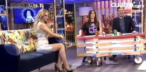 Lara Álvarez y Xavi Rodríguez reciben la visita de Edurne / Cuatro.com