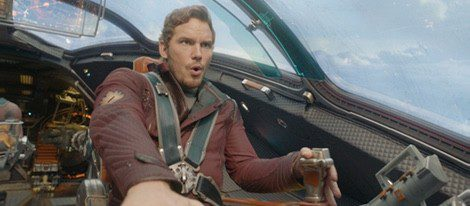 Chris Pratt en una de las escenas de 'Guardianes de la Galaxia'