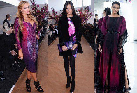 Paris Hilton, Adriana Lima y Ciara en el desfile de Gabriela Cadena en la New York Fashion Week