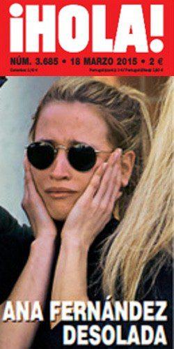 Ana Fernández, destrozada tras la muerte de su novio Santi Trancho