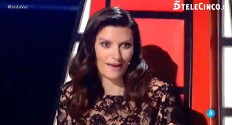 Laura Pausini en la semifinal de 'La Voz' / Telecinco.es