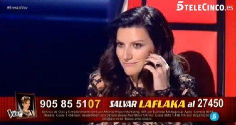 Laura Pausini en 'La Voz' / Telecinco.es