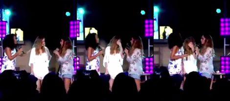 Perrie Edwards rompe a llorar durante una actuación de Little Mix