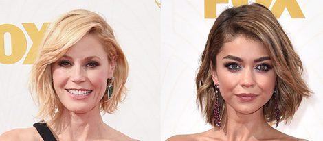 Sarah Hyland y Julie Bowen en la alfombra roja de los Emmy