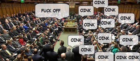 Meme de David Cameron en el parlamento