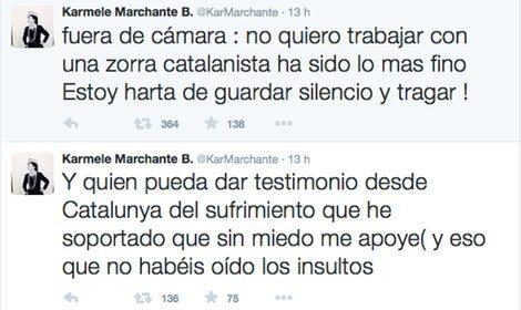 Karmele Marchante denuncia en Twitter haber sido insultada en 'Sálvame'
