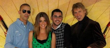 Manuela Velasco con sus compañeros de 'Brainiac'