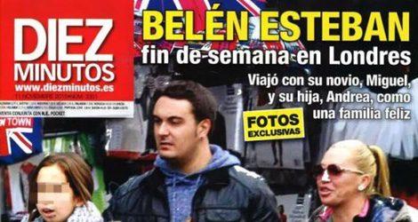 Belén Esteban y Miguel con Andreíta en Londres