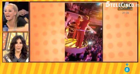 Belén Esteban e Ylenia bailando 'Pégate' en una discoteca