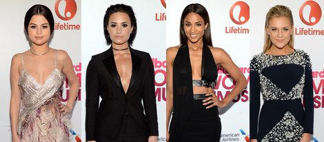 Selena Gomez, Demi Lovato, Ciara y Kelsea Ballerini en los Billboard Women in Music 2015