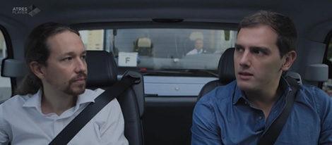 Pablo Iglesias y Albert Rivera en 'Salvados' | atresplayer.com