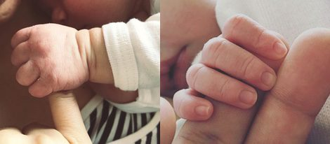 Aina Clotet y Marc Clotet junto al recién nacido / Instagram