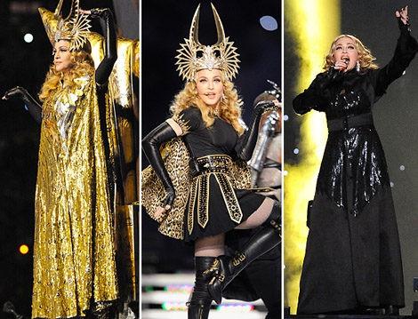 Los diseños de Givenchy lucidos por Madonna en la Super Bowl