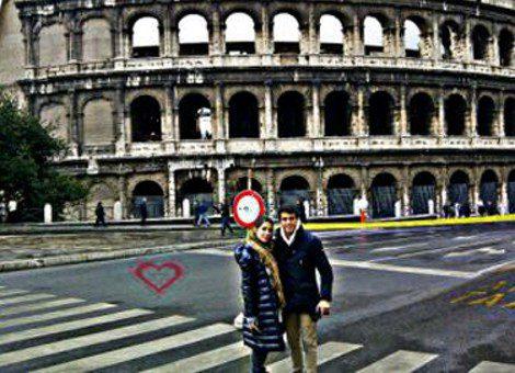Elena Tablada y Daniel Arigita sellan su amor con una romántica escapada a Roma