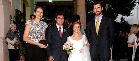 La Infanta Cristina y el Príncipe Felipe con Pepote Ballester el día de su boda