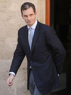 Iñaki Urdangarín a la salida del juzgado