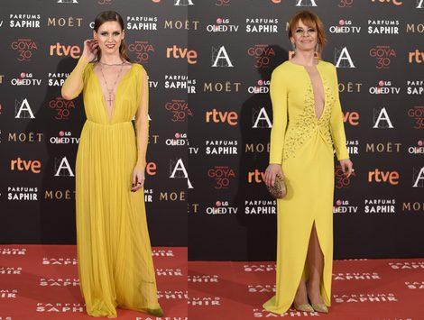 María Adánez y Manuela Vellés en la alfombra roja de los Premios Goya 2016