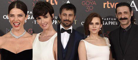 Juana Acosta, Paz Vega, Hugo Silva, Aura Garrido y Nacho Fresnada en los Goya 2016