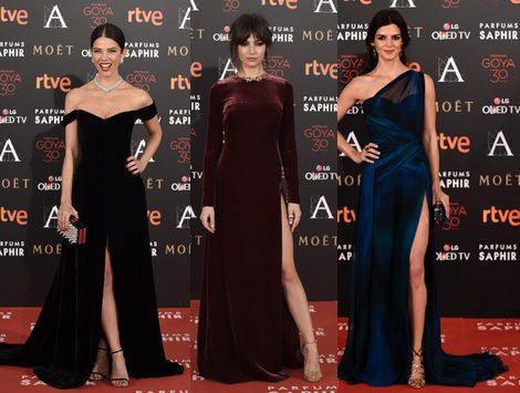 Clara Lago, Úrsula Corberó y Juana Acosta en los Premios Goya 2016