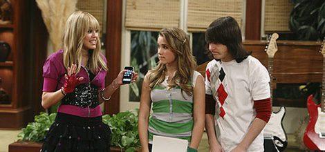 Hannah Montana y sus amigos Lilly y Mike