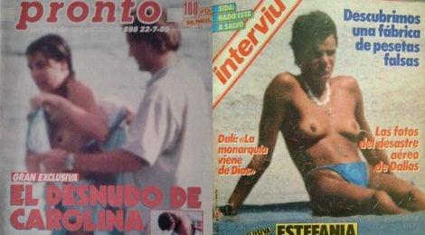Carolina y Estefanía de Mónaco en topless