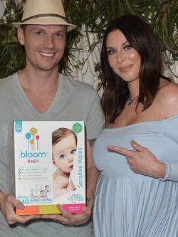 Nick Carter y Lauren Kitt en el 'baby shower' / Instagram