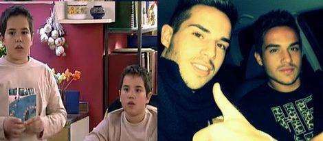 Alejandro y Guillermo Gallego en la serie y en la actualidad