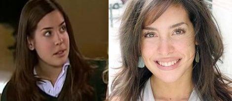 Noelia Ortega en la serie y en la actualidad