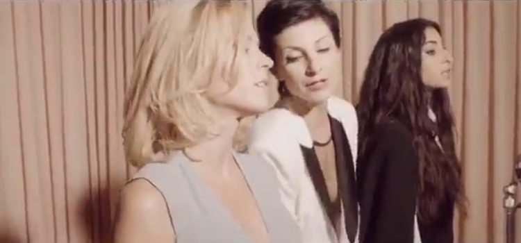 Alba Flores, Najwa Nimri y Maggie Civantos bailan juntas / Imagen: Twitter Najwa  Nimri