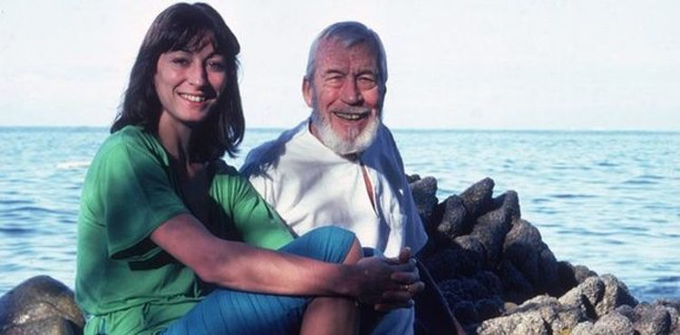 Anjelica Huston con su padre John Huston