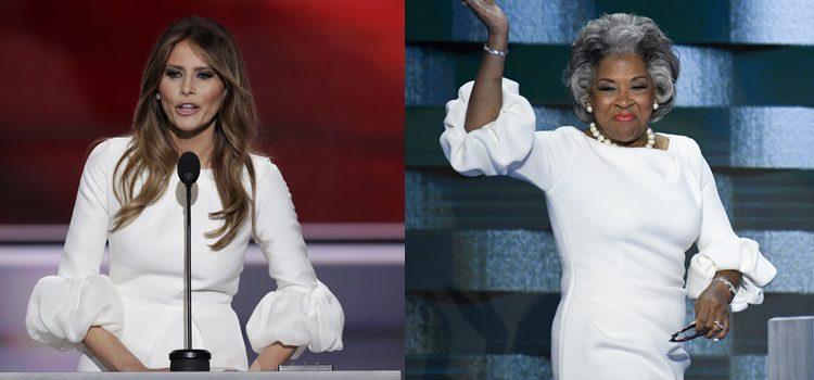 Melania Trump y Joyce Betty con el mismo vestido