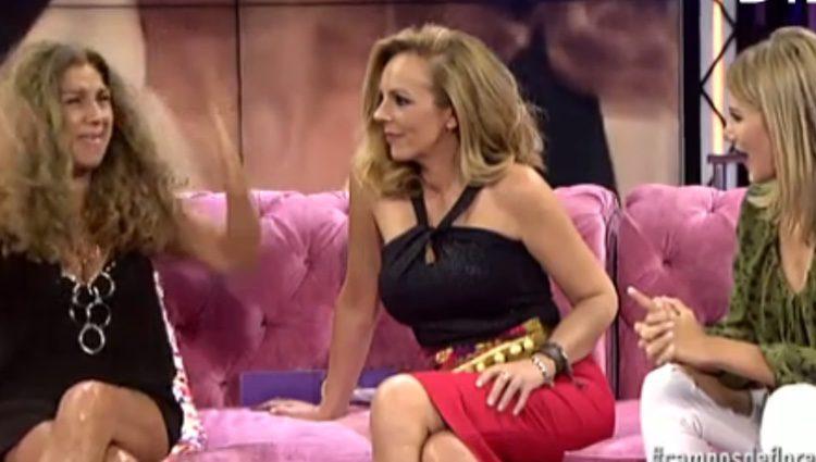 Lolita Flores dando consejos a Alba Carrillo/ telecinco.es