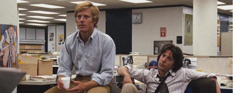 Dustin Hoffman y Robert Redford en una escena de 'Todos los hombres del presidente'