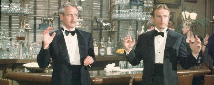 Robert Redford y Paul Newman en una escena de 'El golpe'