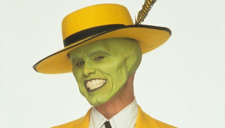 Jim Carrey disfrazado de la Máscara