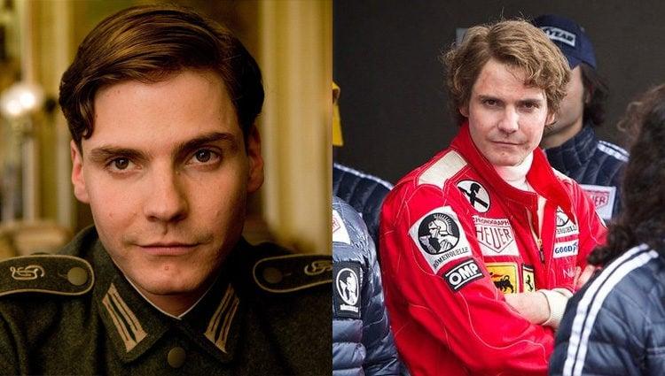 Daniel Brühl en las películas 'Malditos bastardos' y 'Rush'