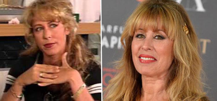 Miriam Diaz-Aroca en 'La casa de los líos' (izq) y en 2011 (der)