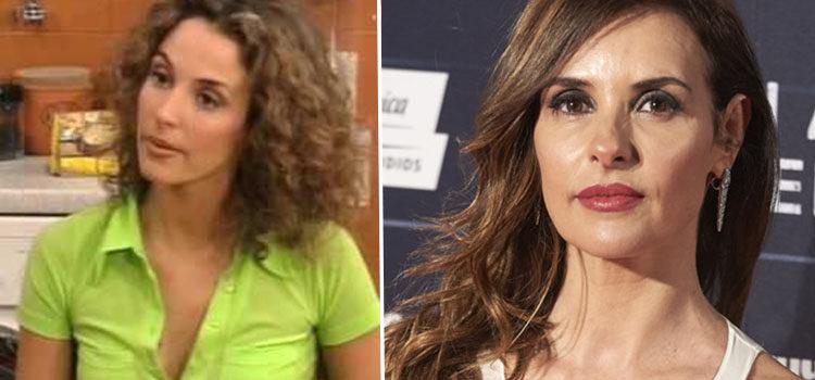 Patricia Vico en 'La casa de los líos' (izq) y en 2011 (der)