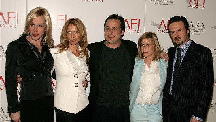 Los cinco hermanos Arquette reunidos