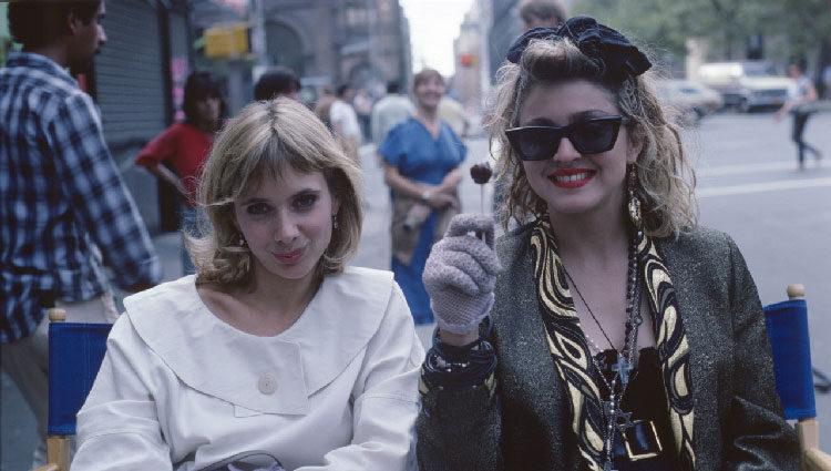 Rosanna Arquette con Madonna