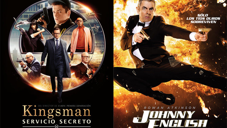 Los carteles de las películas 'Kingsman: Servicio secreto' y 'Johnny English Returns'