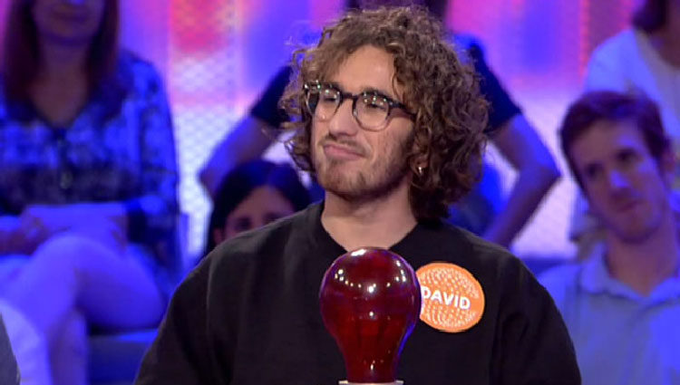 David Castillo participando en 'Pasapalabra' en 2017 | telecinco.es