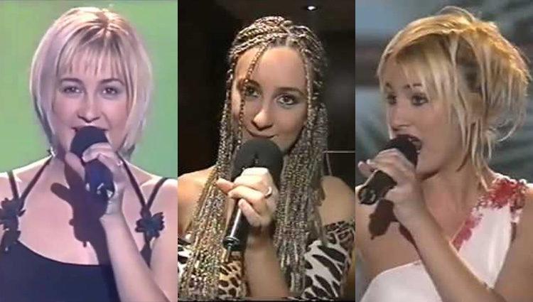 Mireia en distintas actuaciones durante 'Operación Triunfo'