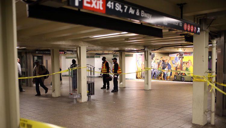 La estación de Times Square después del suceso. Fuente: Getty Images