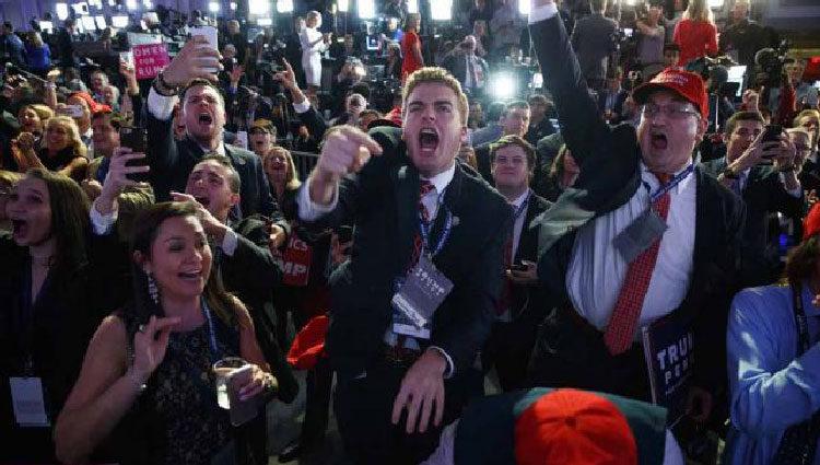 Euforia en las calles por la victoria de Trump