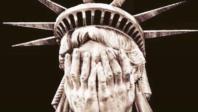 Imagen de la Estatua de la Libertad llorando / Foto: Instagram