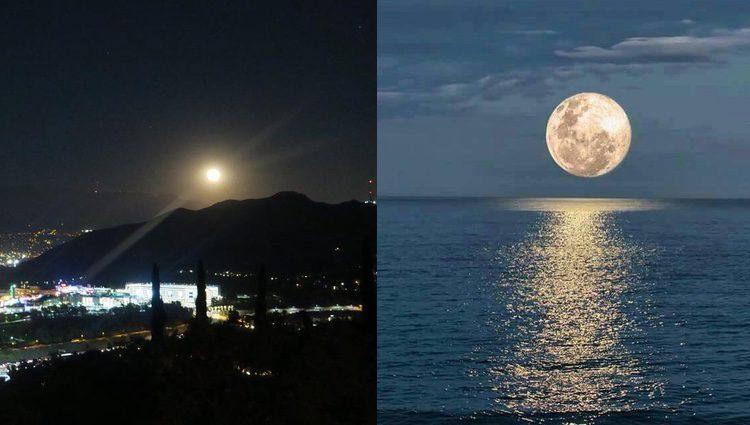 Las fotografías de Cara Delevingne y Makoke de la Superluna   Foto: Instagram