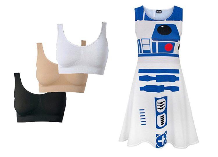 Sujetadores deportivos y vestido de Star Wars