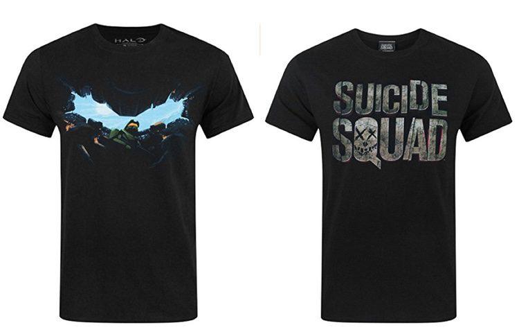 Camiseta de Halo y Escuadrón Suicida