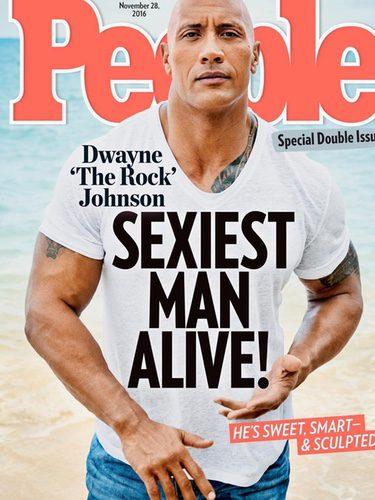 Portada de la revista People con Dwayne Johnson